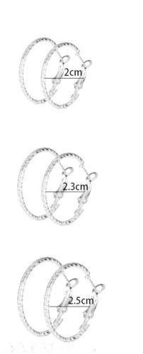 Neu Ohrringe Creolen silber Prägemuster drei Größen wählbar  H53