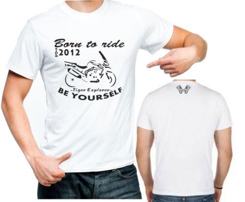 T-shirt maglia per moto bike TIGER EXPLORER maglietta TRIUMPH racing tshirt