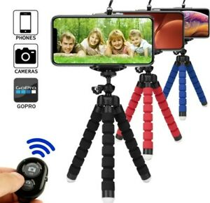 Treppiede-cavalletto-Flessibile-supporto-smartphone-go-pro-telecomando-Bluetooth