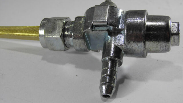 Benzinhahn ZÜNDAPP C50 SPORT M12x1 gute Qualität 90°Metall Wassersack fuel tap