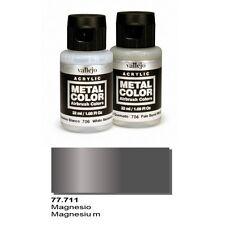Vallejo Paints Metal Color VLJ-77711 Magnesium Metal Color 32ml Bottle