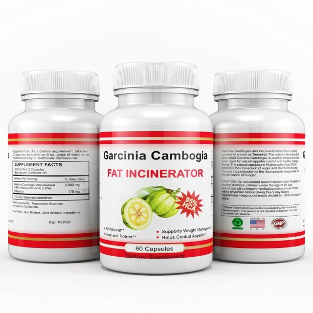 Pure Weight Loss Garcinia Cambogia Extract 95 Hca Diet Pills Belly Fat Burner