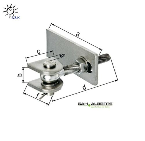GAH Torband Stahl kurze Ausführung - breite verstellbar - versch. Größen !