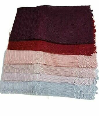 Pretty kuwaiti Lace pearl Hijab scarf shawl wrap occasion Party top quality