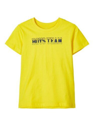 NAME IT Jungen T-shirt NKMVagno gelb Boys Team Größe 122//128 bis 158//164