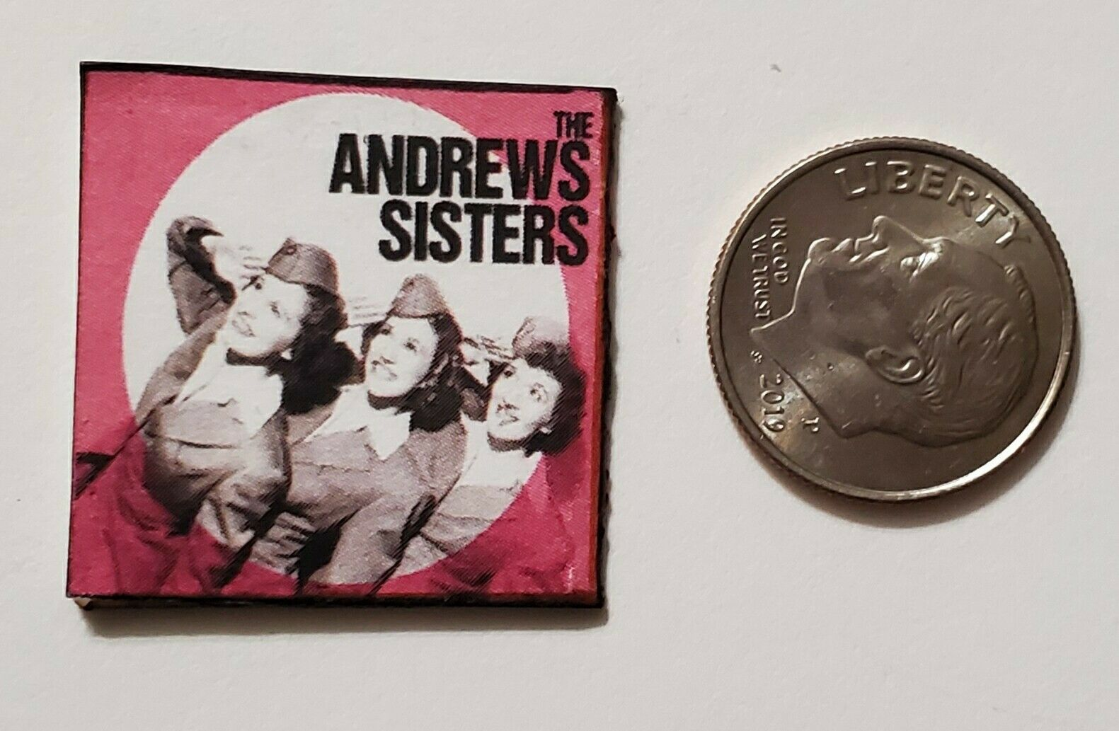 """Dollhouse Miniature Record Album 1/"""" 1//12 scale Barbie Andrew Sisters Boogie Boy"""