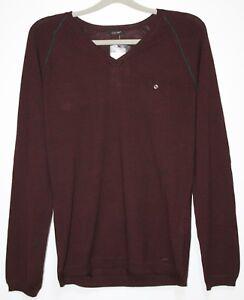 Taglia Ciamilo Red con In maglia Xl uomo Cinque etichetta Wine pullover Nuovo H40wt