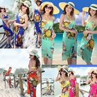 Sexy Womens Open-back Wrap Front Summer Beach Bikini Cover-Up Swimwear Sun Dress
