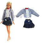 New Hot sell Handmade Outfits Clothes Sets Dress Skirt for Barbie Doll Xmas Gift