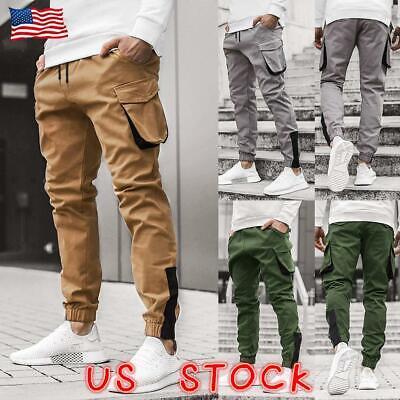 Men/'s Casual Joggers Pants Sweatpants Cargo Combat Active Sport Camo Trousers US