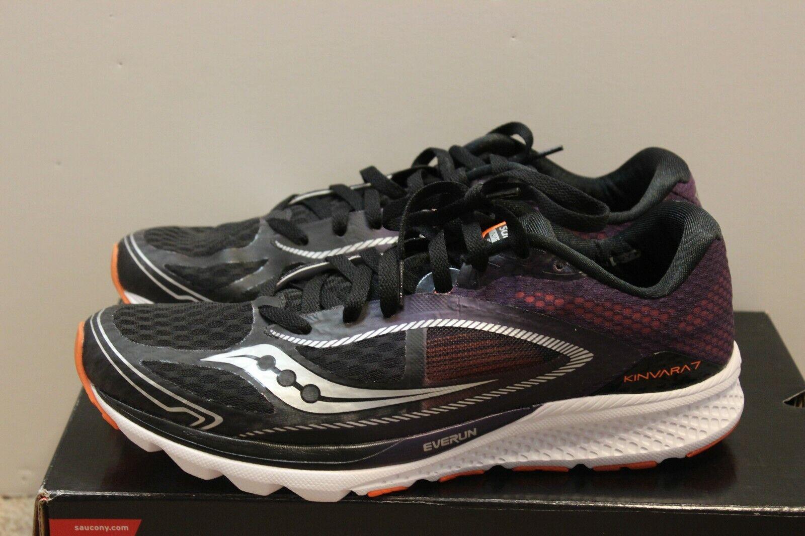 Saucony KINVARA 7 para hombres Zapatos tenis de correr negro púrpura naranja