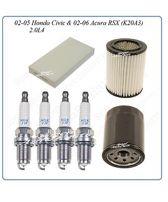 Spark Plug Filter Kit Tune Up Kit NGK for Aura RSX Honda Civic CRV Element