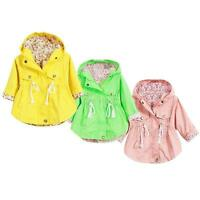 Toddler Baby Girls Hoodie Jacket Floral Autumn Coat Casual Blouse Outerwear 2-7Y
