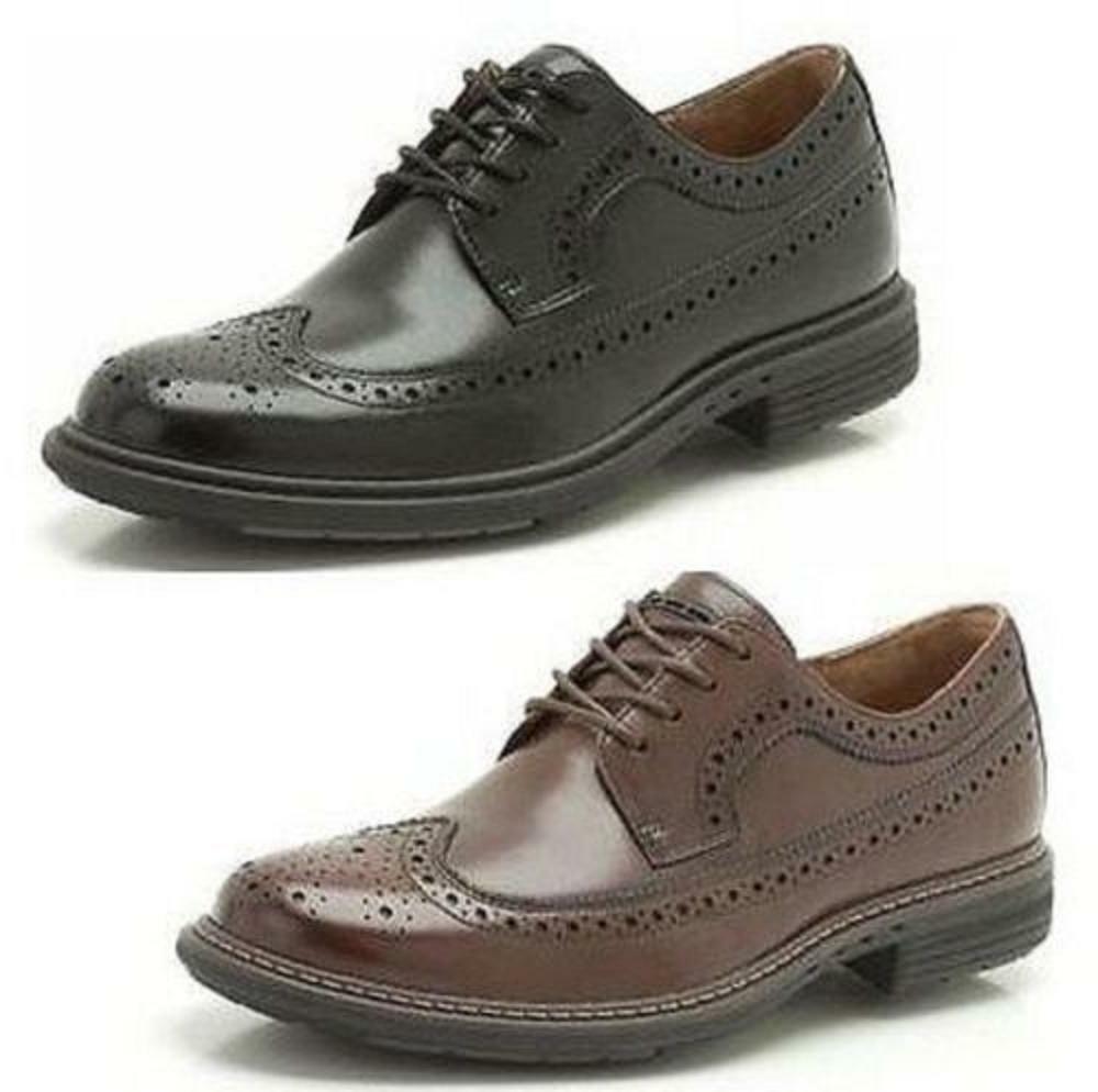 Clarks Mens  UN Limit - Wide Fit Tan Lea - Brogue Comfortable  UK 6,7,8,9,10,H