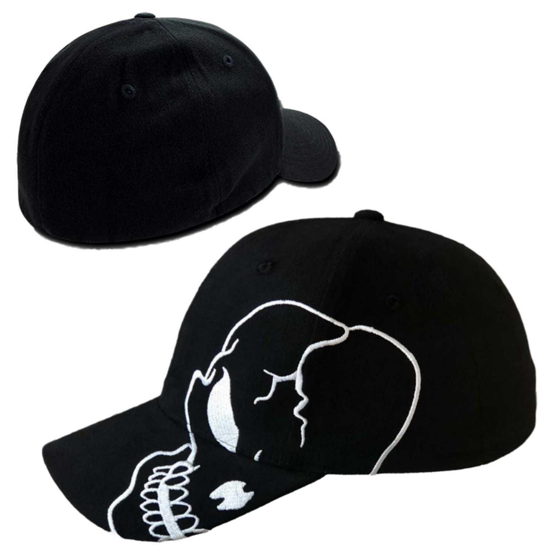2c4ee0615 Details about Skull Skateboard Biker Skeleton Motorcycle Punisher Baseball  Cap Flex Hat - S/M