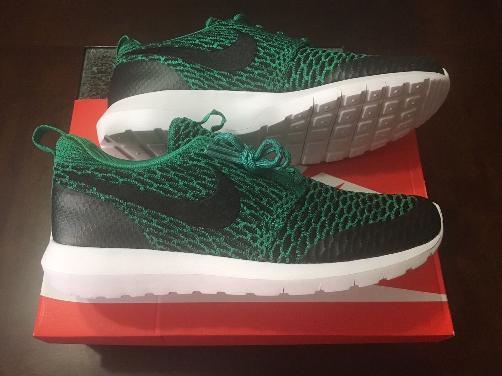 *BRAND NEW* Nike Flyknit NM Roshe SE Limited 816531-300 Men Lucid Green Sz 10 DS