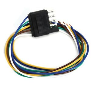 details about 5 pin flat plug trailer wire harness extension connector plug 25inch 5 Pin Trailer Wiring Harness