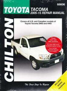 2005 2015 toyota tacoma 2wd 4wd chiltons service repair workshop rh ebay co uk 2005 toyota tacoma service manual free download Toyota Tacoma Repair