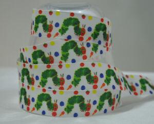 25 mm Neuf 1 Mètre-The Hungry Caterpillar Design Gros-Grain Ruban