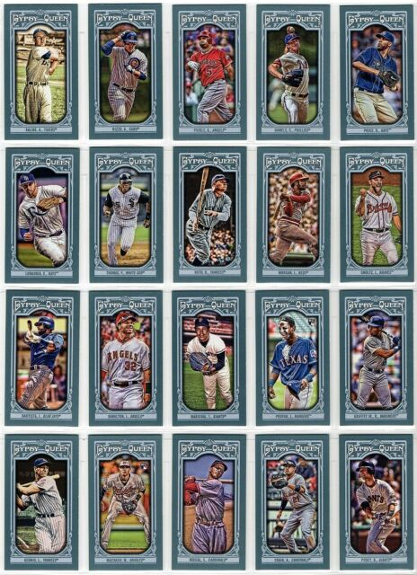2013 Topps Gypsy Queen Mini Picture Variation Box Topper Parallel You Pick A