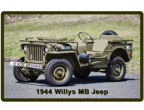 Tool Box Magnet 1944 Willys Jeep US ARMY WWII  Auto Refrigerator