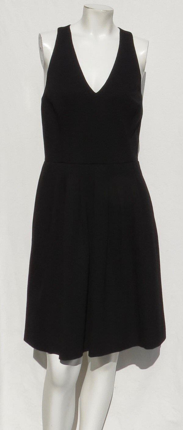 NEW  BANANA REPUBLIC schwarz Stretch Ponte Knit Open Back Dress Größe M 10