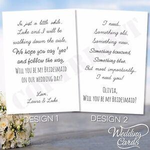 Scratch postcard bridesmaid wedding witness