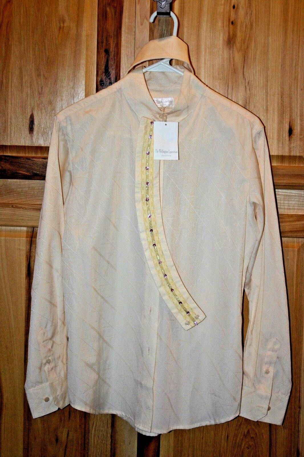 Charles Owen Wellington English Hunt Show Shirt Ladies 6 38, Cream, NEW & Fancy