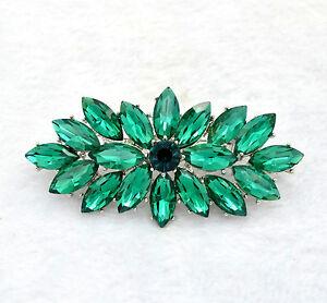 Stile-Vintage-Verde-Smeraldo-Bouquet-Di-Fiori-Da-Festa-Matrimonio-Spilla-BR332