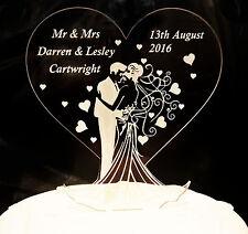 Personalised Wedding Bridal Mr & Mrs Good Luck Gift / Lucky Keepsake Cake Topper