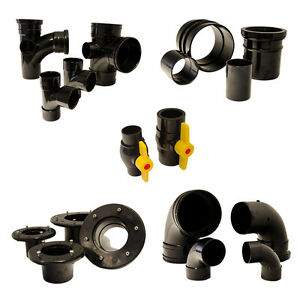 Solvent weld pond pipe fittings connector koi pipework for Pond filter pipe
