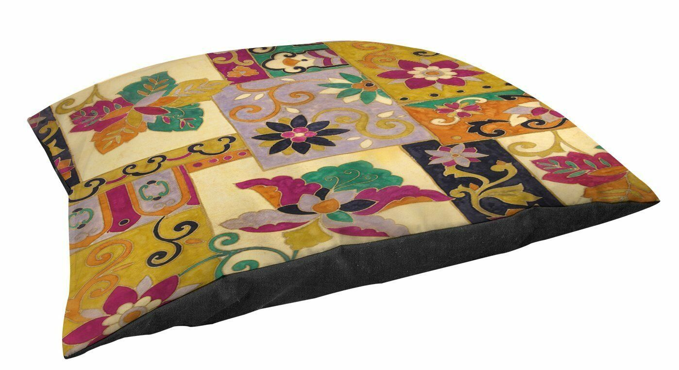 Manual Woodworkers & Weavers IndoorOutdoor Lg Breed Pet Bed, Jacobean Collage