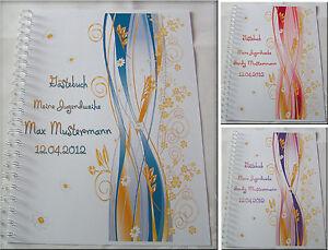Gaestebuch-Fotobuch-Jugendweihe-Geschenk-Einladung-Karte-Kleid-Deko-Design-Gold