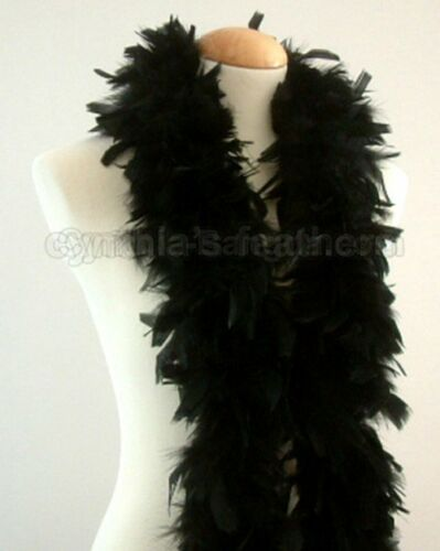 Black 45 Grams Chandelle Feather Boa Dance Party Halloween Costume