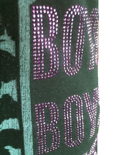 AMPLIFIED LADY GAGA Boys STRASS Pink Print Rock Star Vintage ViP T-Shirt g.S