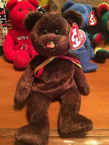TY BEANIE BABIE ... WITH ALL TAGS ... BEANIE BABY BEAR ...MC ... c80bd6878bd4