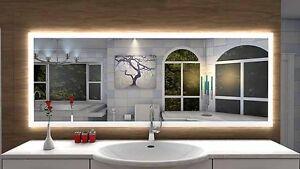 """Détails sur Miroir lumineux LED salle de bain """"Sete"""", LED  illuminé,éclairage, lumière"""