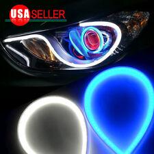 2X Tube 60cm Headlight LED Strip DRL Daytime Running Light For Audi-Style 12V