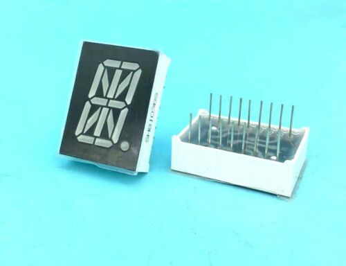 """Red 0.8/"""" 1 Digital LED Display Common Anode//cathode 16 Segments 27.7x20mm 18-pin"""