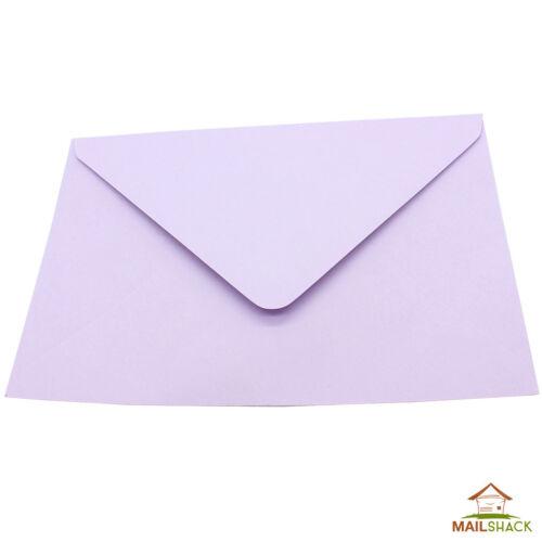 Lilac Purple GREETINGS CARD Envelopes 90gsm Gummed Plain Colour 130 x 184mm