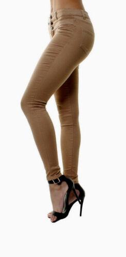 WOMENS SKINNY JEANS Jeggings HIGH WAISTED Black Pants 10 12 14 16 18