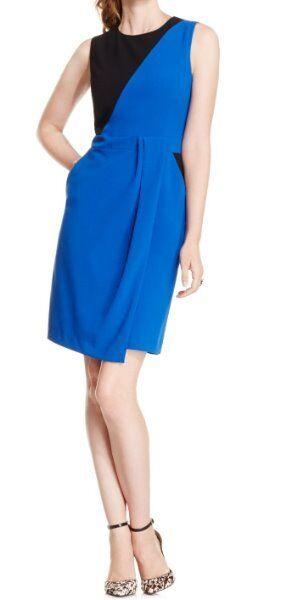 Neun Weste Kleid 14 Tief Blau Schwarz Ärmellos Mantel Business Abendessen Kleid