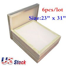 Usa Stock 6 Pack 23 X 31 Aluminum Silk Screen Frame With 110 Mesh