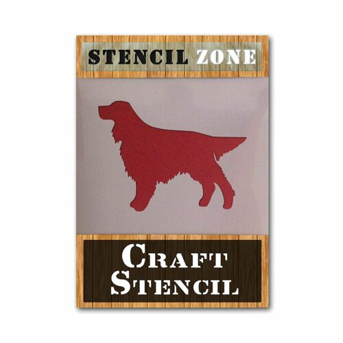 Golden Setter Mylar airrush Painting Wall Art Stencil