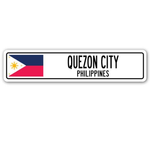 PHILIPPINES Aluminum Street Sign Filipino flag city country road wa QUEZON CITY