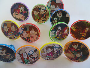 12 GRAVITY FALLS Rings CUPCAKE toppers birthday party favor cake