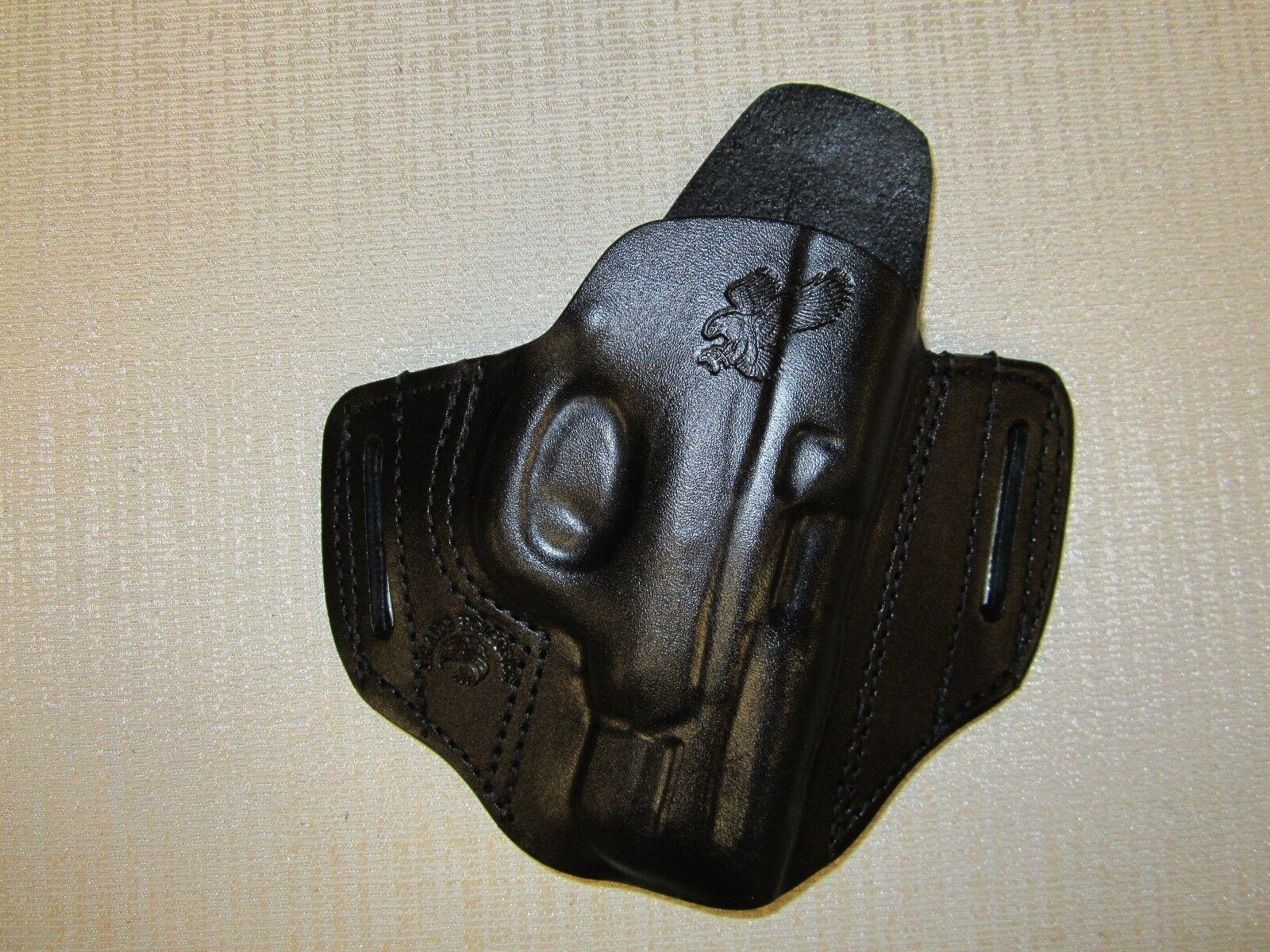S&W M&P SHIELD 3.3 45 Cal. formed Leder pancake owb slide Leder belt slide owb holster 2bcfcd