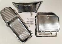 Gm Turbo 350 Polished Aluminum Transmission Pan Oil Pan Flywheel Dust Cover