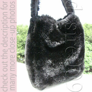 Fun Cross Black elegante Handbag Body Fur Sencillo Message y qCwYIPPxE