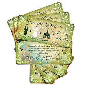 Save the Date ● Einladungskart<wbr/>en zur Hochzeit ● Märchenhochzei<wbr/>t - grün